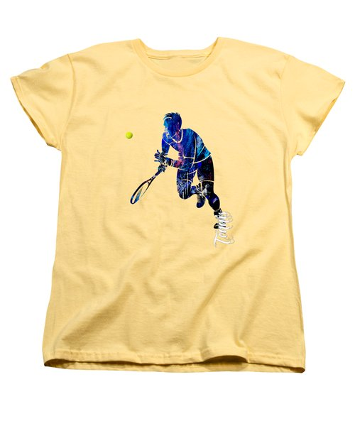 Mens Tennis Collection Women's T-Shirt (Standard Cut) by Marvin Blaine