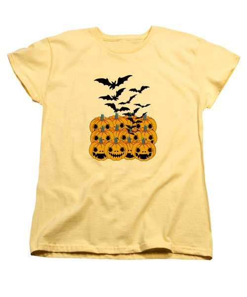 Pumpkin Women's T-Shirt (Standard Cut) by Mark Ashkenazi