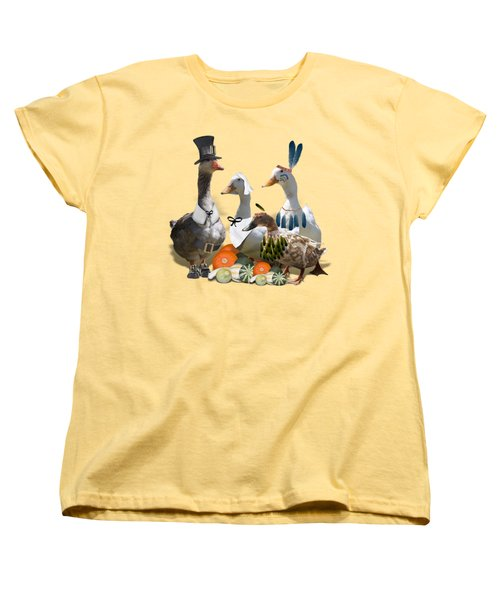 Thanksgiving Ducks Women's T-Shirt (Standard Cut) by Gravityx9 Designs