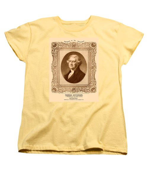 Thomas Jefferson Women's T-Shirt (Standard Cut) by War Is Hell Store