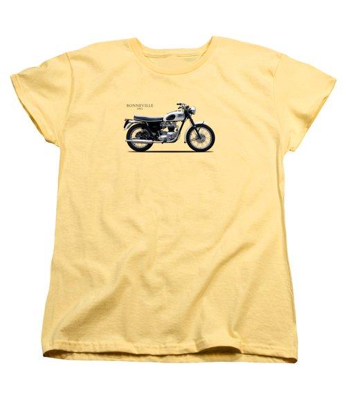 Triumph Bonneville 1963 Women's T-Shirt (Standard Cut) by Mark Rogan