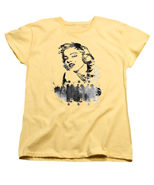 Marilyn Monroe Collection Women's T-Shirt (Standard Cut) by Marvin Blaine