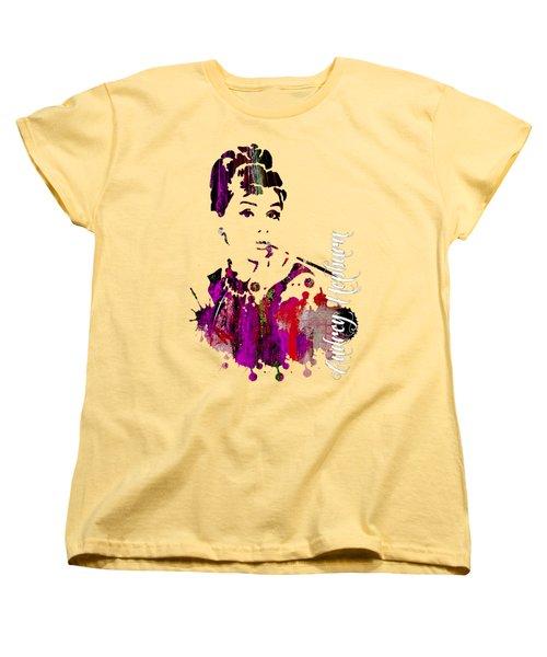 Audrey Hepburn Collection Women's T-Shirt (Standard Cut) by Marvin Blaine
