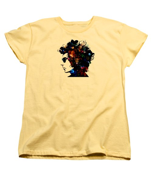 Bob Dylan Collection Women's T-Shirt (Standard Cut) by Marvin Blaine