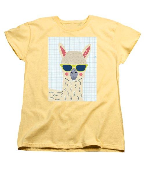 Alpaca Women's T-Shirt (Standard Cut) by Nicole Wilson
