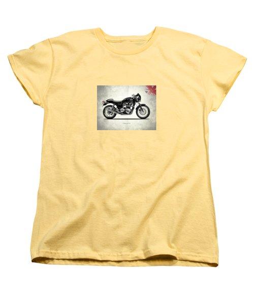 Triumph Thruxton Women's T-Shirt (Standard Cut) by Mark Rogan