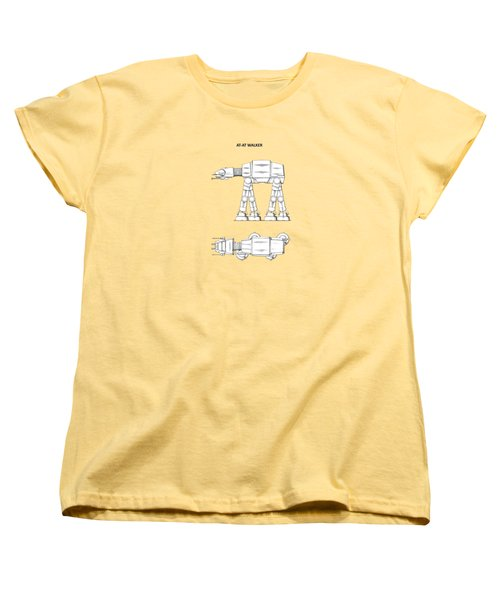 Star Wars - At-at Patent Women's T-Shirt (Standard Cut) by Mark Rogan
