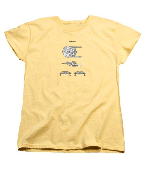 Star Trek - Uss Reliant Patent Women's T-Shirt (Standard Cut) by Mark Rogan
