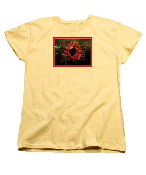 Today - Quote Women's T-Shirt (Standard Cut) by Anita Faye