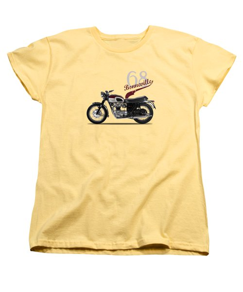 Triumph Bonneville T120 1968 Women's T-Shirt (Standard Cut) by Mark Rogan
