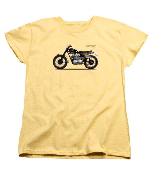 The Steve Mcqueen Desert Racer Women's T-Shirt (Standard Cut) by Mark Rogan