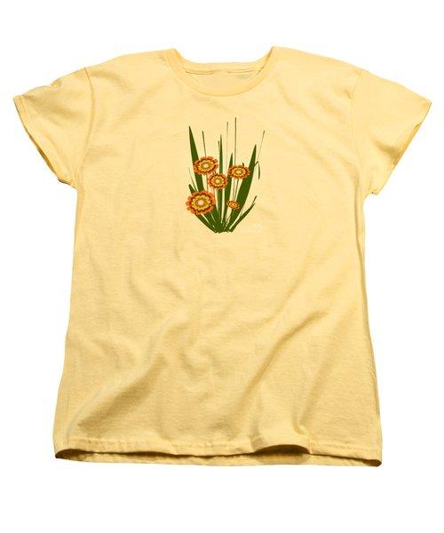 Orange Flowers Women's T-Shirt (Standard Cut) by Anastasiya Malakhova