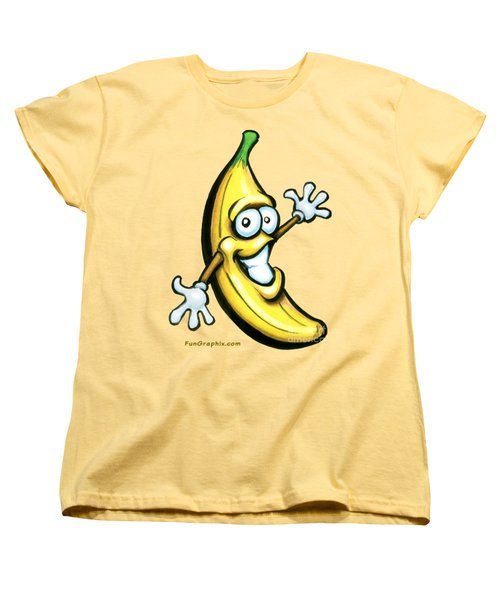 Banana Women's T-Shirt (Standard Cut) by Kevin Middleton
