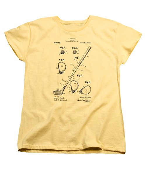 Vintage 1910 Golf Club Patent Artwork Women's T-Shirt (Standard Cut) by Nikki Marie Smith