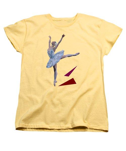 Ballerina Dancing Swan Lake Women's T-Shirt (Standard Cut) by James Bryson