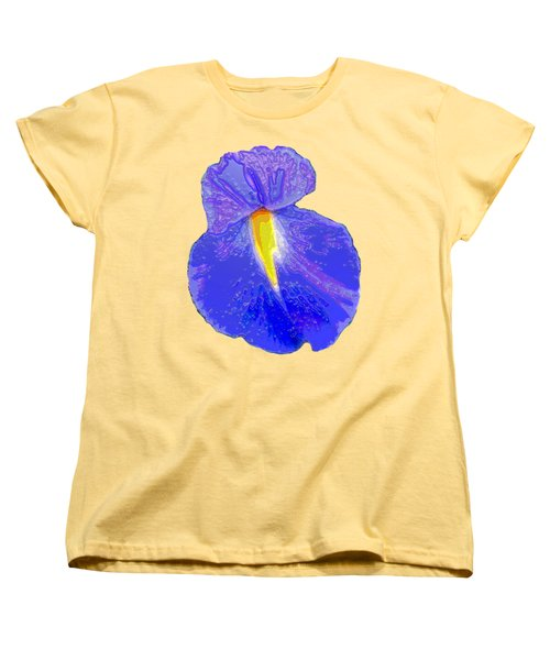 Big Mouth Iris Women's T-Shirt (Standard Cut) by Marian Bell