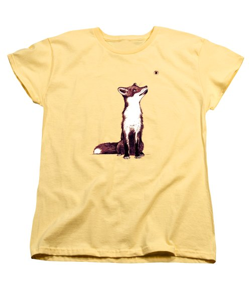Brown Fox Looks At Thing Women's T-Shirt (Standard Cut) by Nicholas Ely