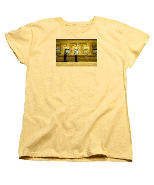Women's T-Shirt (Standard Cut) featuring the photograph Buying A Ticket by M G Whittingham