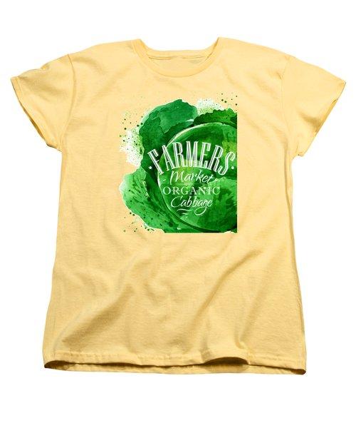 Cabbage Women's T-Shirt (Standard Cut) by Aloke Design