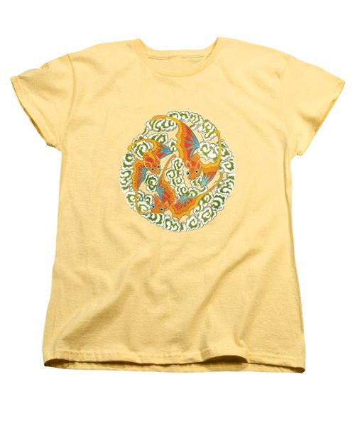 Chinese Bats Tee Shirt Design Women's T-Shirt (Standard Cut) by Bellesouth Studio