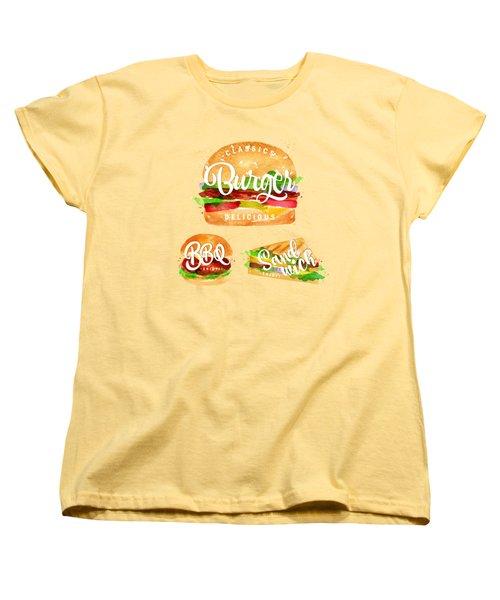 Color Burger Women's T-Shirt (Standard Cut) by Aloke Design