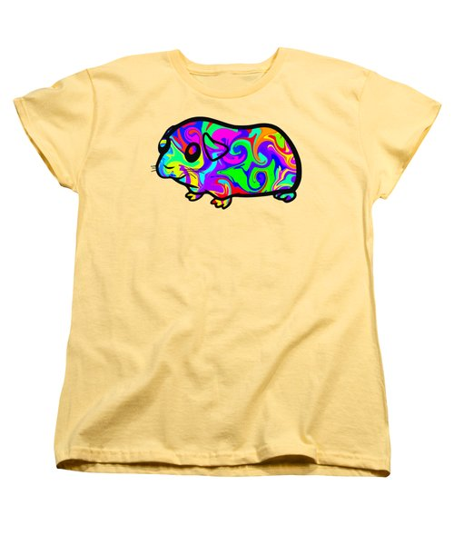 Colorful Guinea Pig Women's T-Shirt (Standard Cut) by Chris Butler
