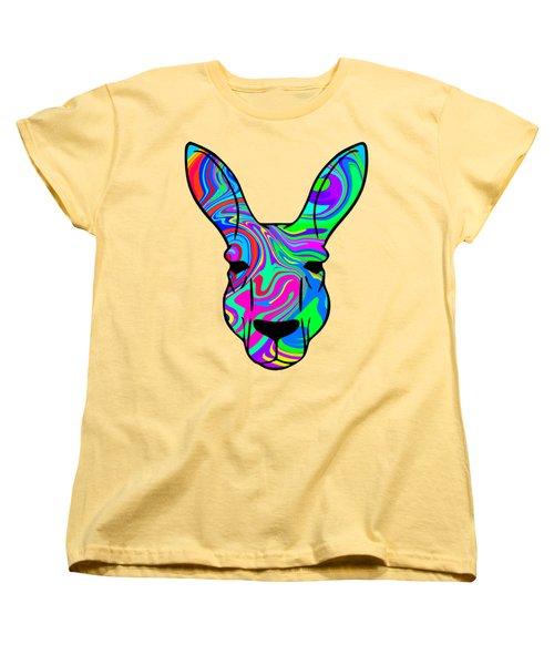 Colorful Kangaroo Women's T-Shirt (Standard Cut) by Chris Butler