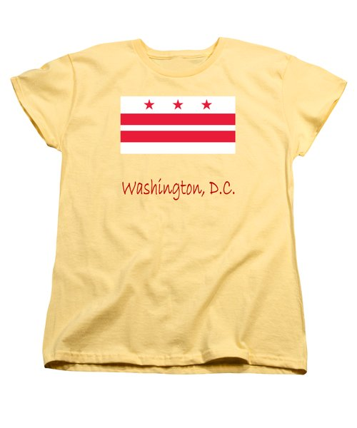 District Of Columbia Flag Women's T-Shirt (Standard Cut) by Frederick Holiday