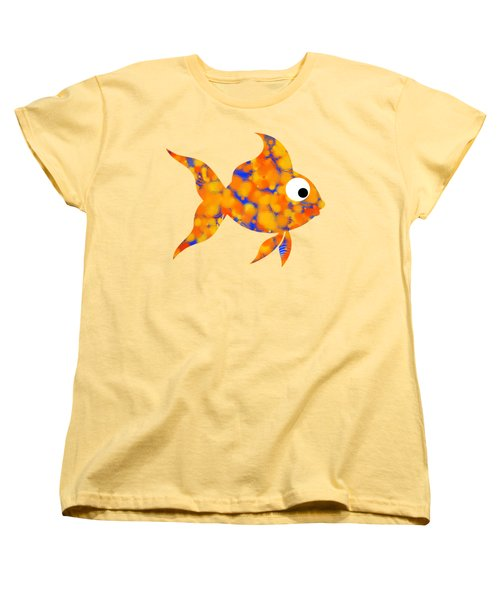 Fancy Goldfish Women's T-Shirt (Standard Cut) by Christina Rollo