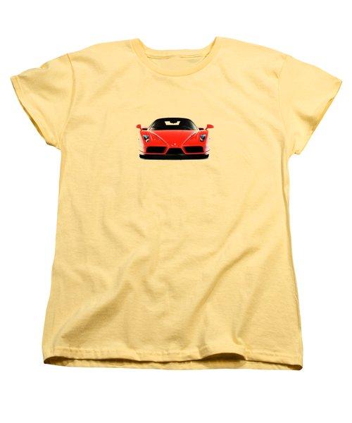 Ferrari Enzo Ferrari Women's T-Shirt (Standard Cut) by Mark Rogan