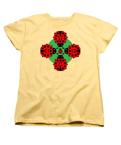 Five Lucky Ladybugs Women's T-Shirt (Standard Cut) by John Groves