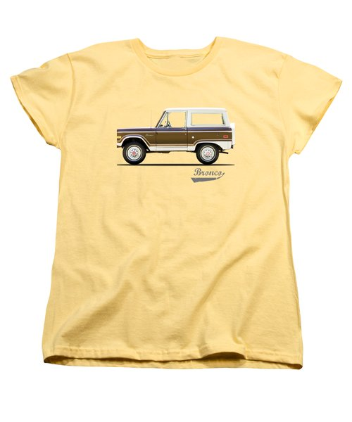 Ford Bronco Ranger 1976 Women's T-Shirt (Standard Cut) by Mark Rogan