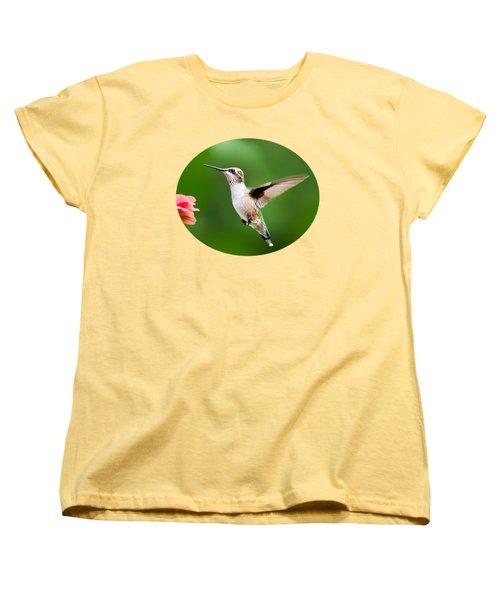 Free As A Bird Hummingbird Women's T-Shirt (Standard Cut) by Christina Rollo