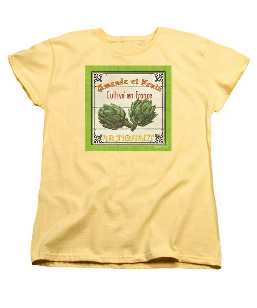 French Vegetable Sign 2 Women's T-Shirt (Standard Cut) by Debbie DeWitt