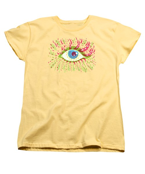 From Looking Psychedelic Eye Women's T-Shirt (Standard Cut) by Boriana Giormova