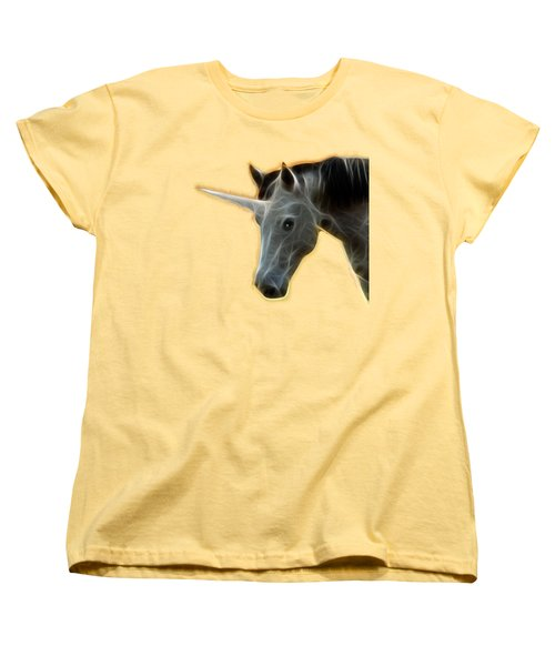 Glowing Unicorn Women's T-Shirt (Standard Cut) by Shane Bechler