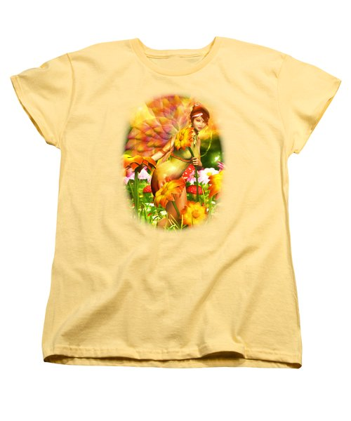 Golden Adornments Women's T-Shirt (Standard Cut) by Brandy Thomas