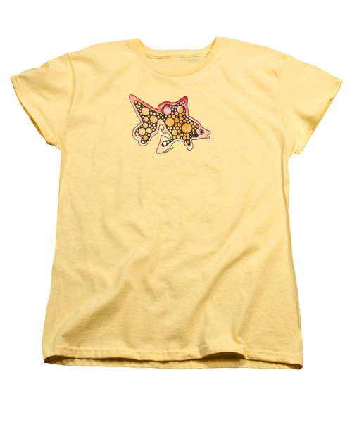 Goldfish Women's T-Shirt (Standard Cut) by Petra Stephens