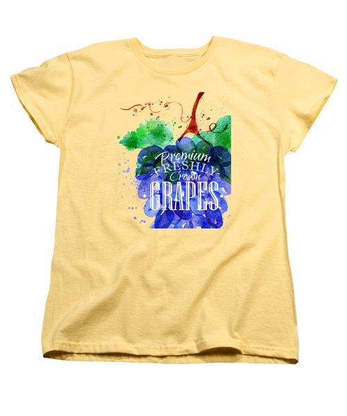 Grapes Women's T-Shirt (Standard Cut) by Aloke Design