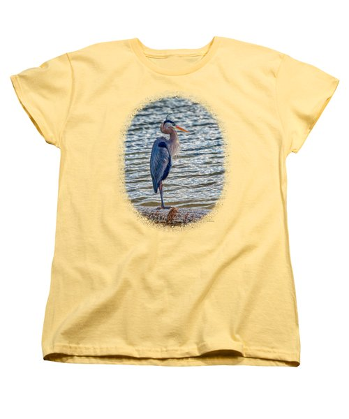 Great Blue Heron Women's T-Shirt (Standard Cut) by John M Bailey