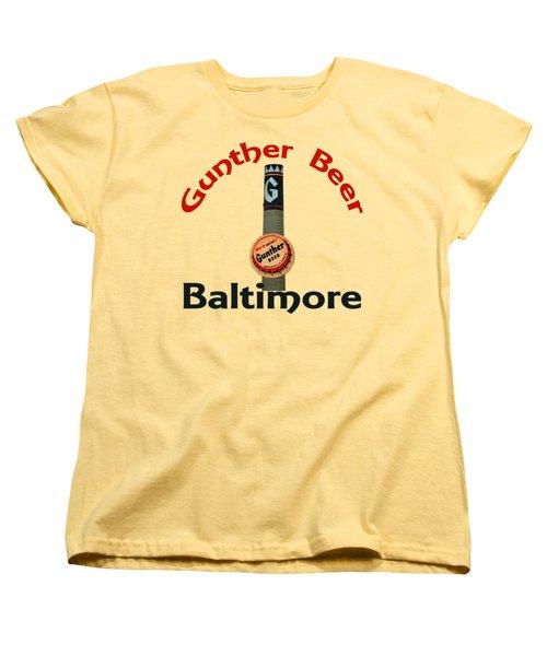 Gunther Beer Baltimore Women's T-Shirt (Standard Cut) by Jost Houk