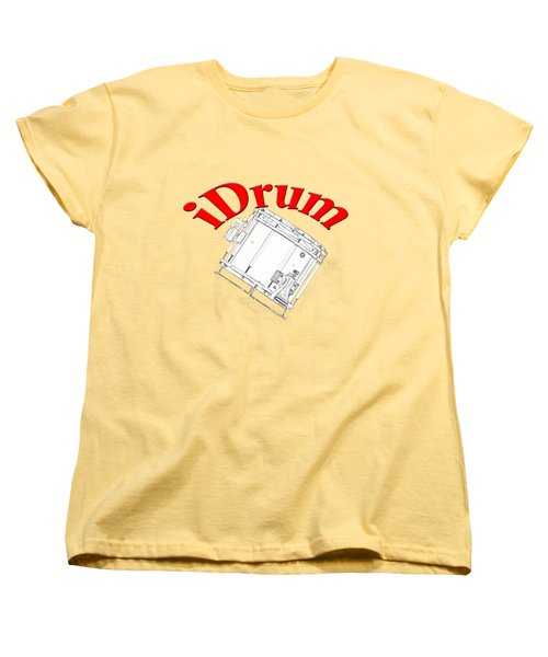 iDrum Women's T-Shirt (Standard Cut) by M K  Miller