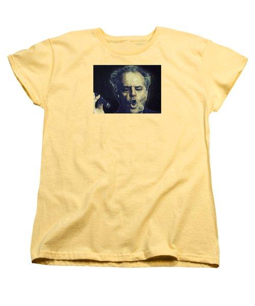 Jack Nicholson 2 Women's T-Shirt (Standard Cut) by Semih Yurdabak