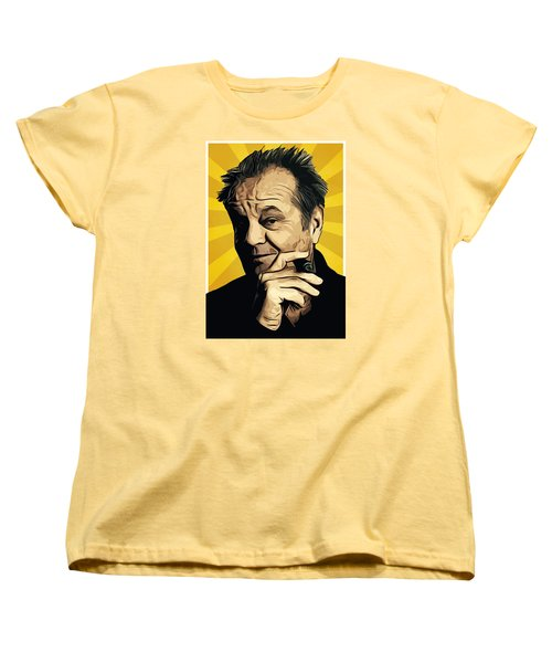 Jack Nicholson 3 Women's T-Shirt (Standard Cut) by Semih Yurdabak