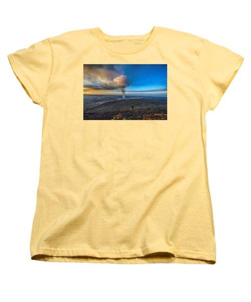 Kilauea Caldera Women's T-Shirt (Standard Cut) by Lynn Andrews