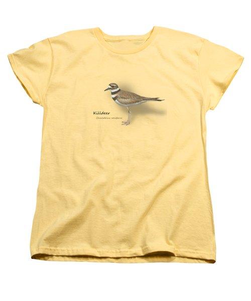 Killdeer - Charadrius Vociferus - Transparent Design Women's T-Shirt (Standard Cut) by Mitch Spence