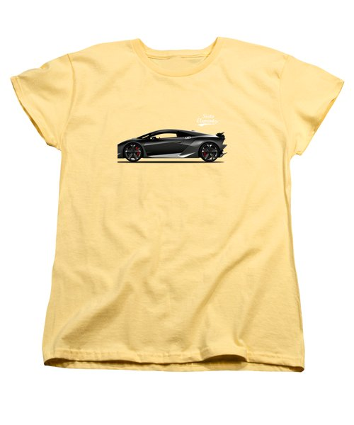 Lamborghini Sesto Elemento Women's T-Shirt (Standard Cut) by Mark Rogan