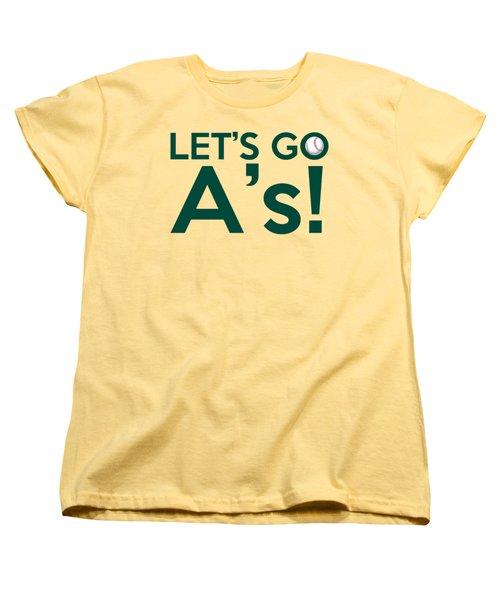 Let's Go A's Women's T-Shirt (Standard Cut) by Florian Rodarte