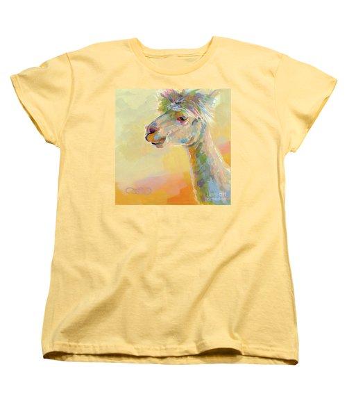 Lolly Llama Women's T-Shirt (Standard Cut) by Kimberly Santini