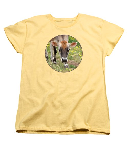 Look Into My Eyes - Jersey Cow - Square Women's T-Shirt (Standard Cut) by Gill Billington